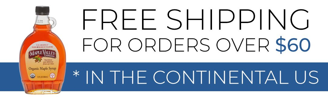 FREE SHIPPING for orders over $60 in the contin