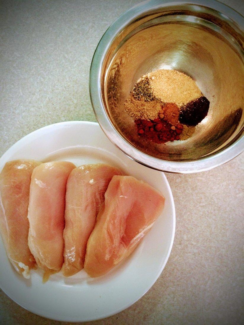 Chicken & spices