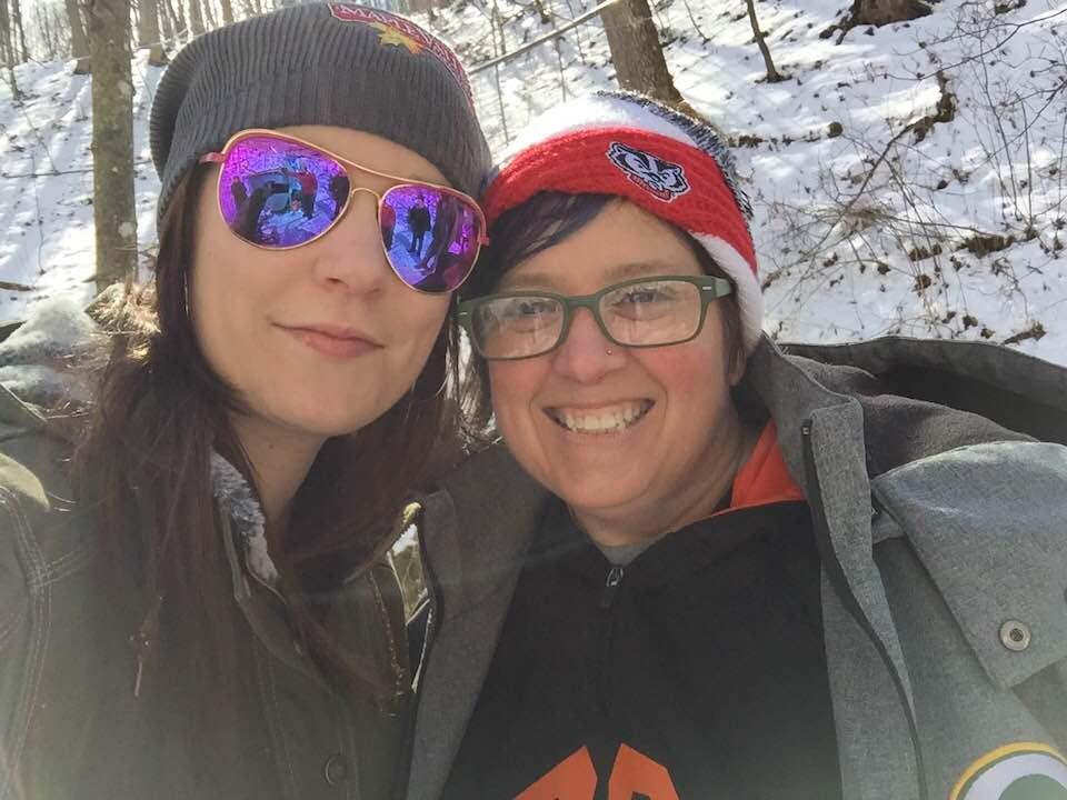 Employees Kim & Miranda at a Maple Valley farm
