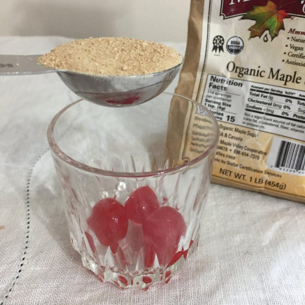 Adding maple sugar