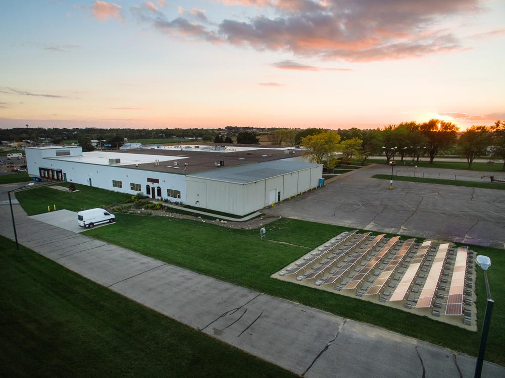 Kickapoo Coffee Roasters was the first roaster in the world to power 100% of our electrical power needs from an on-site solar array.