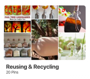 Reusing & Recycling Inspiration on Pinterest