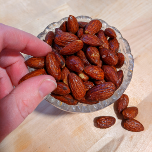 Great for snacking, try and keep your hands off these maple nuts