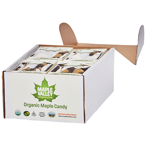 Maple Valley Coop case of organic maple candy product image