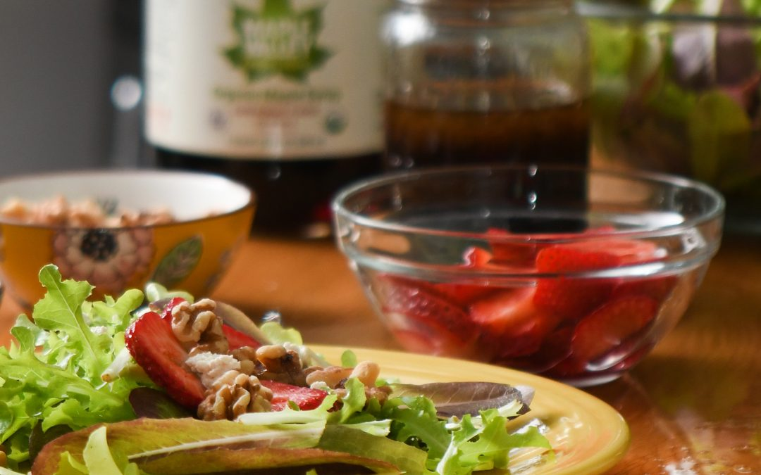 Strawberry Walnut Maple Vinaigrette Salad Recipe