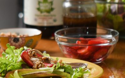 Strawberry Walnut Maple Vinaigrette Salad Recipe