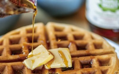 Awesome, classic crispy and fluffy Belgian waffles